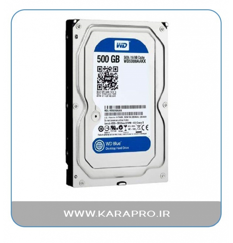 هارد وسترن آبی 500 گیگابایت مدل WD BLUE WD5000AAKX